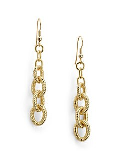 1AR by UNOAERRE - Interlocked Ribbed Link Earrings
