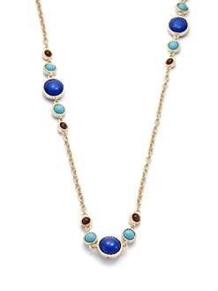 Kenneth Jay Lane - Circle Accent Long Necklace