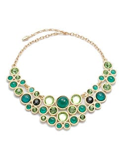 Kenneth Jay Lane - Circular Bib Necklace/Emerald