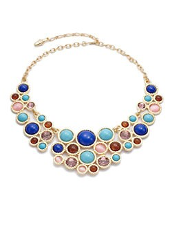 Kenneth Jay Lane - Circular Bib Necklace/Multicolor