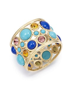 Kenneth Jay Lane - Cutout Circle Cuff Bracelet/Multicolor