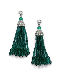 Kenneth Jay Lane - Tassel Earrings/Emerald
