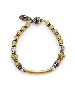 TOVA - Small Faceted Bead & Bar Bracelet