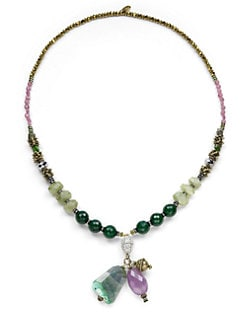 TOVA - Tassel Semi-Precious Stone Necklace