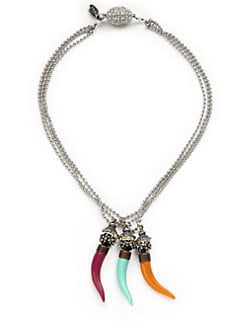 TOVA - Triple Horn Layered Necklace