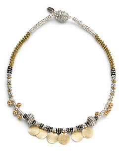 TOVA - Crystal Disk Necklace