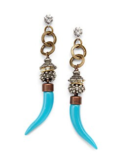 TOVA - Resin Horn Drop Earrings