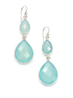 NuNu - Double Teardrop Earrings/Aqua