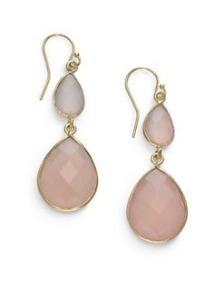 NuNu - Double Teardrop Earrings/Pink