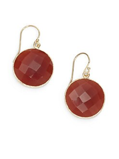 NuNu - Round Drop Earrings/Carnelian