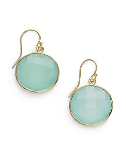 NuNu - Round Drop Earrings/Aqua