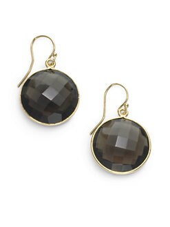 NuNu - Round Drop Earrings/Smoky Quartz