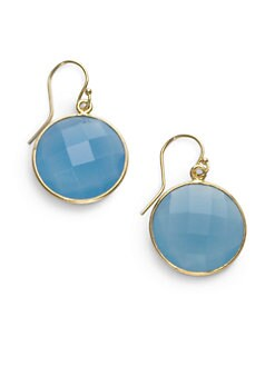 NuNu - Round Drop Earrings/Blue