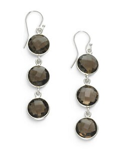 NuNu - Triple Drop Earrings/Smoky Quartz