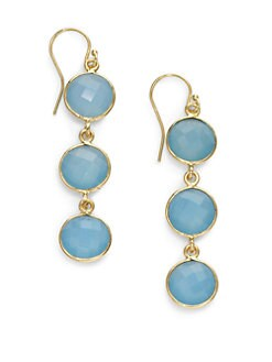 NuNu - Triple Drop Earrings/Blue