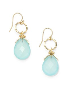 NuNu - Circle & Teardrop Earrings/Aqua