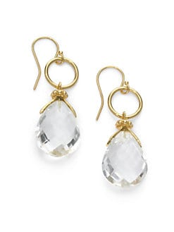 NuNu - Circle & Teardrop Earrings/Clear Quartz