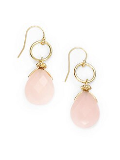 NuNu - Circle & Teardrop Earrings/Pink