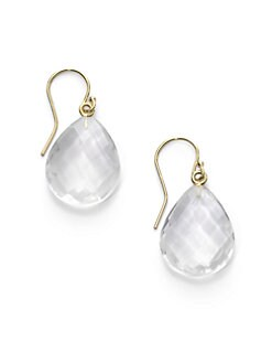 NuNu - Teardrop Earrings/Pink Chalcedony