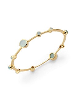 NuNu - Stone-Accented Bangle/Aqua