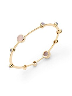 NuNu - Stone-Accented Bangle/Pink