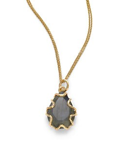NuNu - Teardrop Bezel Necklace/Labradorite