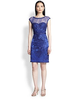 Sue Wong - Embroidered Cocktail Dress