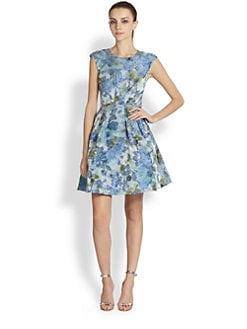 ABS - Floral-Print Party Dress