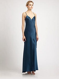 ABS - Satin Wrap Front Gown