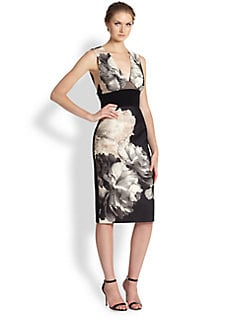 ABS - Floral Contrast Sheath