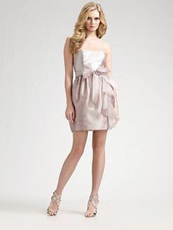 Aidan Mattox - Strapless Belted Mini Dress