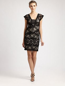 Nicole Miller - Stretch Lace Dress