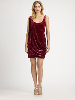 Aidan Mattox - Asymmetrical Draped Dress