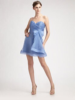 ABS - Strapless Flounce Skirt  Dress