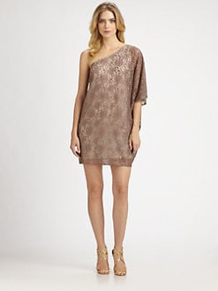 Aidan Mattox - Lace One-Shoulder Dress