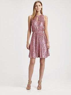 ERIN by Erin Fetherston - Sequin Keyhole Dress