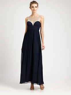 Aidan Mattox - Silk Illusion Gown