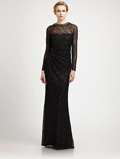 David Meister - Long-Sleeve Gown