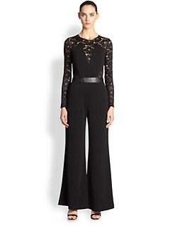 ABS - Long-Sleeve Lace Jumpsuit