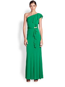 David Meister - One-Shoulder Jersey Gown