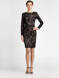 David Meister - Open-Back Lace Dress