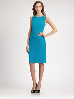 David Meister - Button Sheath Dress