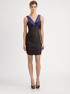 Halston Heritage - Twist-Front Dress
