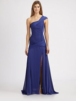 Halston Heritage - Asymmetrical Gown