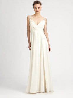 Aidan Mattox - Beaded Back Gown