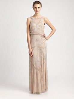 Aidan Mattox - Beaded Blouson Gown