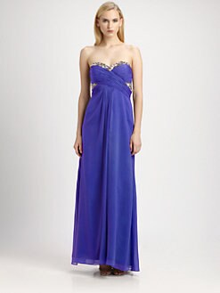 Aidan Mattox - Sequined Strapless Gown