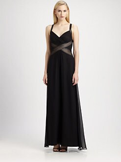 Aidan Mattox - Draped Inset Gown