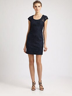 Sue Wong - Beaded Illusion Neckline Dress
