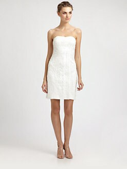 Sue Wong - Strapless Soutache Embroidery Dress